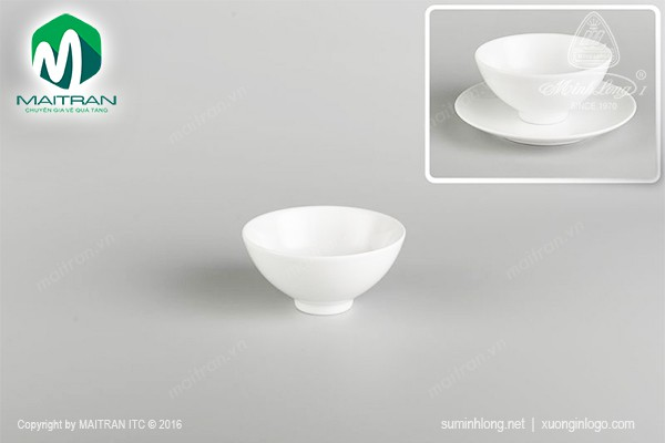 Chén gốm sứ Minh Long Chén Daisy trắng 11.5 cm