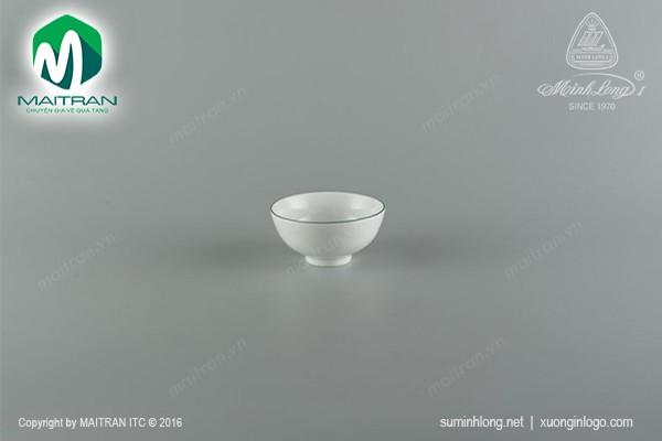 Chén gốm sứ Minh Long Chén Jasmine chỉ xanh lá 11.5 cm