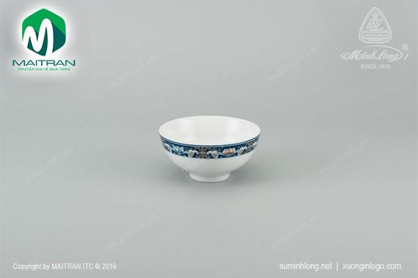 Chén gốm sứ Minh Long Chén Jasmine Phúc Lộc Thọ 11 cm