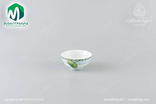 Chén gốm sứ Minh Long Chén Jasmine Tích Tuyết Thảo 11 cm