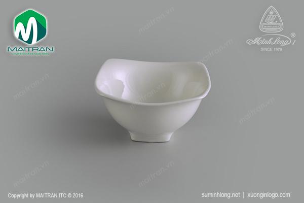 Chén vuông 12cm Jasmine trắng ngà