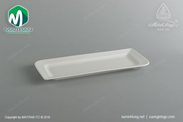 Dĩa chữ nhật dài 25x10.5 cm Ly's Horeca