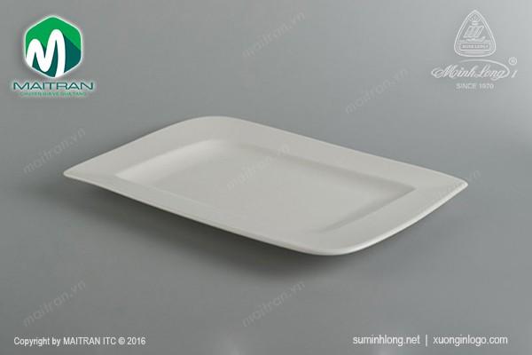Ly's Horeca gốm sứ Minh Long Dĩa chữ nhật 33x23 cm Ly's Horeca