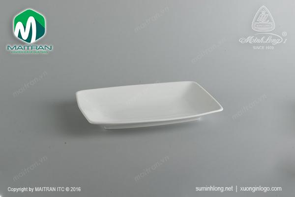 Dĩa chữ nhật phẳng 27 x 18 cm Ly's Horeca