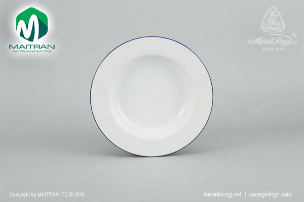Dĩa súp 27 cm Camellia Chỉ xanh dương