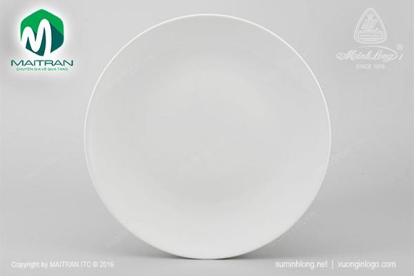 Dĩa gốm sứ Minh Long Dĩa tròn ảo 18 cm Daisy trắng