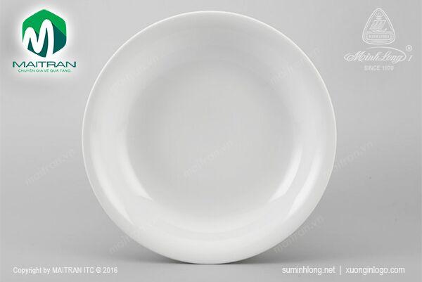 Dĩa tròn sâu 25 cm Daisy trắng