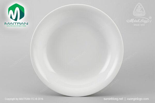 Dĩa gốm sứ Minh Long Dĩa tròn sâu 25 cm Daisy trắng