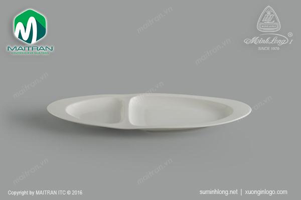 Dĩa oval hai ngăn Gourmet ly's Horeca 40cm