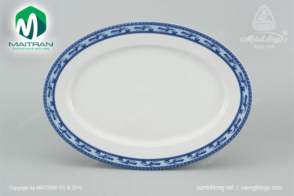 Dĩa oval 32 cm Jasmine Chim Lạc