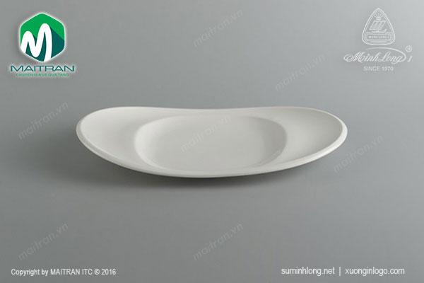 Dĩa oval vành Anh Vũ Ly's Horeca 35 x 21 cm