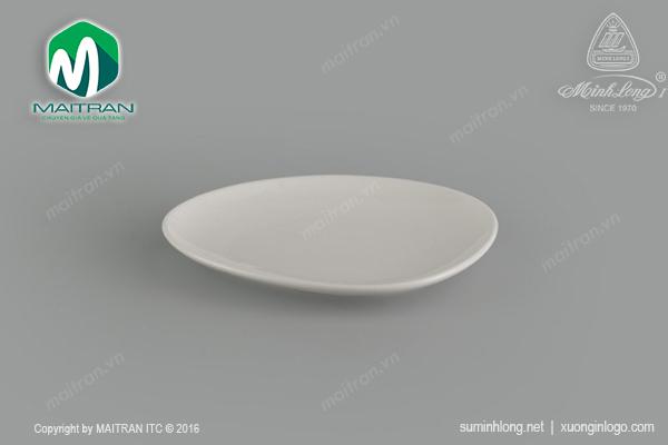 Dĩa tam giác tròn cạn Gourmet Ly's Horeca 18 cm