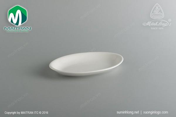 Ly's Horeca gốm sứ Minh Long Dĩa Oval ảo 32 cm Daisy Ly's Horeca