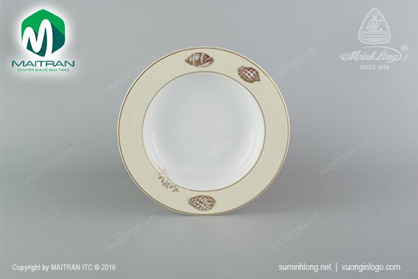Dĩa súp 23 cm Camellia Hương biển kem