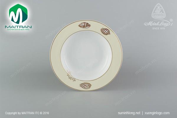 Dĩa gốm sứ Minh Long Dĩa súp 23 cm Camellia Hương biển kem