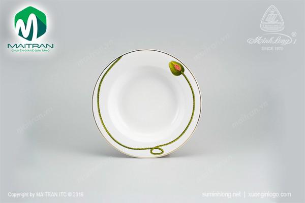 Dĩa gốm sứ Minh Long Dĩa súp 20 cm Camellia Kết Duyên