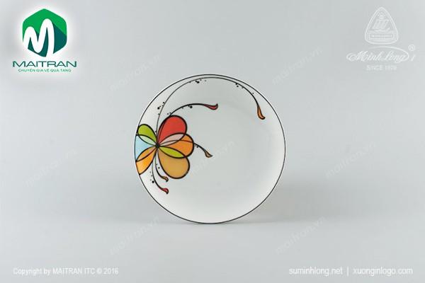 Dĩa gốm sứ Minh Long Dĩa súp Daisy Bóng Bay 25 cm