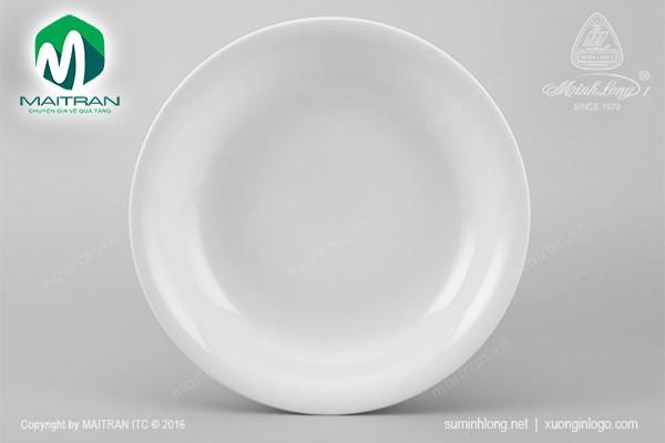 Dĩa gốm sứ Minh Long Dĩa súp Daisy trắng 18 cm