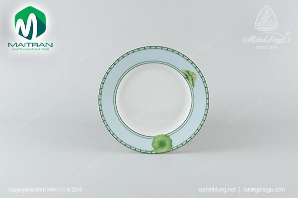 Dĩa gốm sứ Minh Long Dĩa tròn 22 cm Jasmine Tích Tuyết Thảo