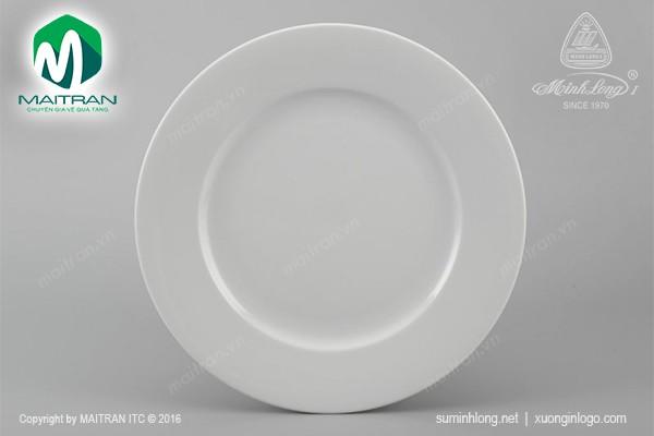 Dĩa gốm sứ Minh Long Dĩa tròn 18 cm Jasmine trắng