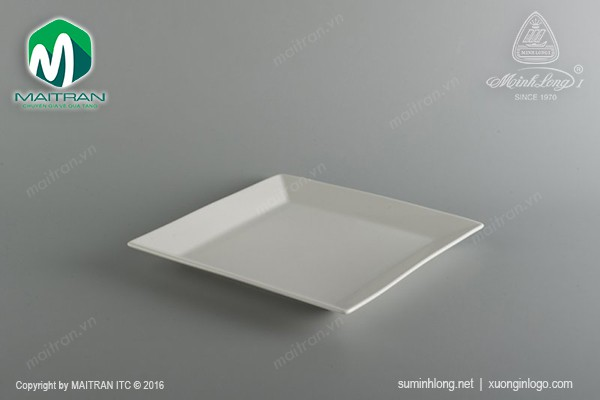 Ly's Horeca gốm sứ Minh Long Dĩa vuông lá 22 cm Ly's Horeca