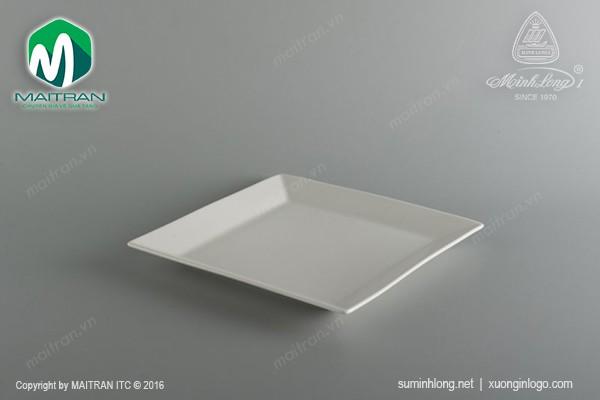 Ly's Horeca gốm sứ Minh Long Dĩa vuông lá 25 cm Ly's Horeca