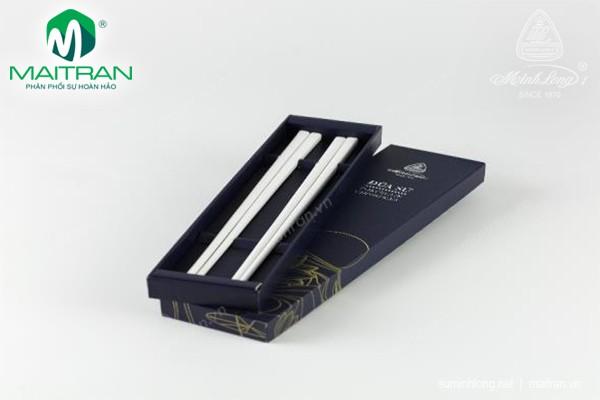 Đũa muỗng sứ Minh Long Đũa sứ dưỡng sinh 24.4 cm (2 đôi/HQ)