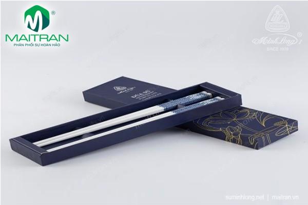Đũa muỗng sứ Minh Long Đũa sứ dưỡng sinh Xanh 1 24.4 cm (10đôi/HQ)