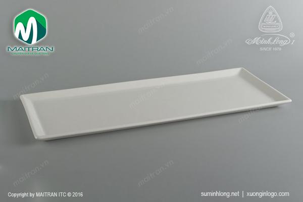 Khay chữ nhật gốm sứ Minh Long Daisy 50 x 21cm