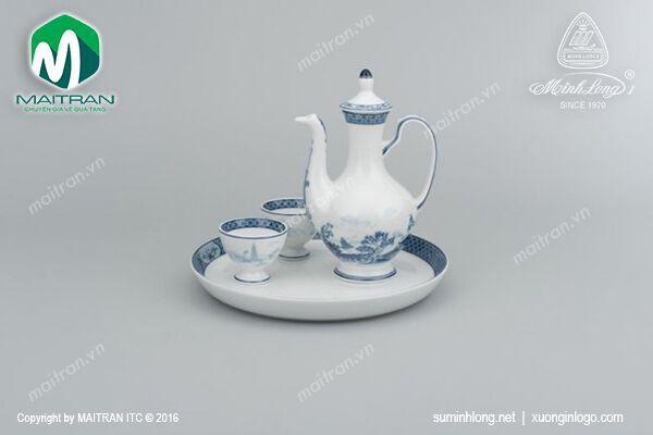 Bộ trà gốm sứ Minh Long Bộ khay rượu Hồn Việt