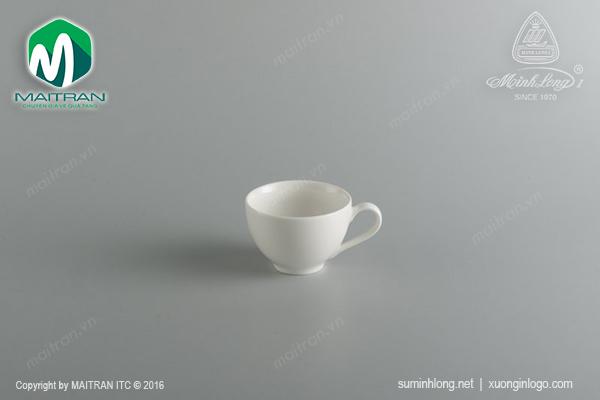 Tách cappuccino gốm sứ Minh Long Daisy 0.22 L