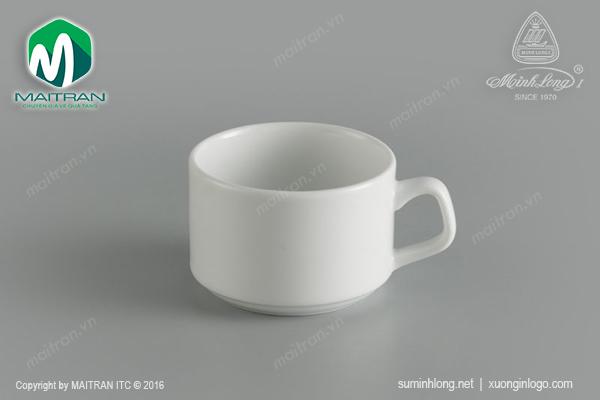 Tách trà 0.10L gốm sứ Minh Long Jasmine Ly's Horeca