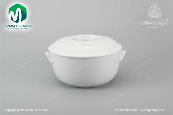 Thố 22 cm Jasmine trắng