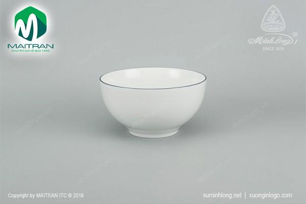 Tô gốm sứ Minh Long Tô chỉ xanh dương 14 cm