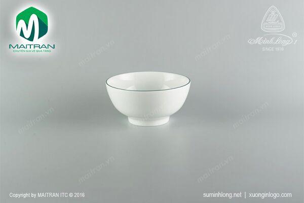 Tô gốm sứ Minh Long Tô cao 15 cm chỉ xanh lá