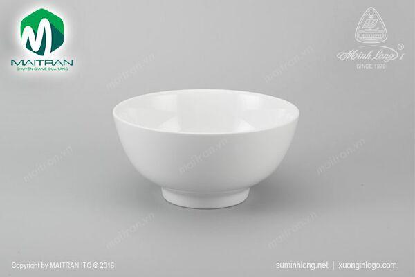 Tô gốm sứ Minh Long Tô cao 18 cm Jasmine trắng