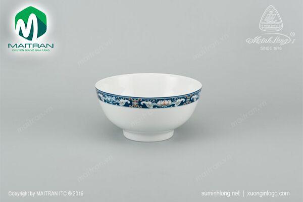 Tô gốm sứ Minh Long Tô cao 18 cm Phúc Lộc Thọ