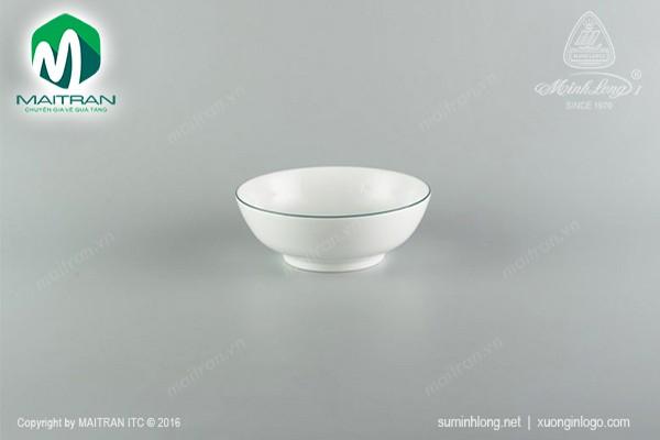 Tô gốm sứ Minh Long Tô thấp 15 cm chỉ xanh lá