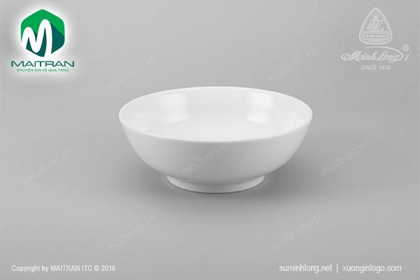 Tô gốm sứ Minh Long Tô thấp 15 cm Jasmine trắng