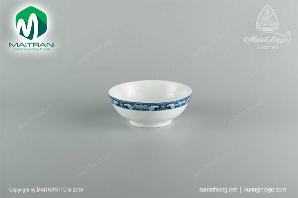 Tô gốm sứ Minh Long Tô thấp 18 cm  Phúc Lộc Thọ