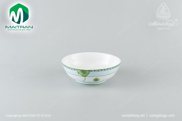 Tô gốm sứ Minh Long Tô thấp 20 cm Tích Tuyết Thảo