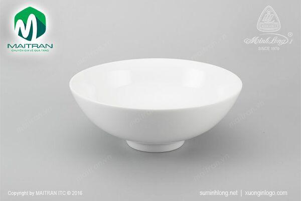 Tô gốm sứ Minh Long Tô trung 23 cm Daisy trắng