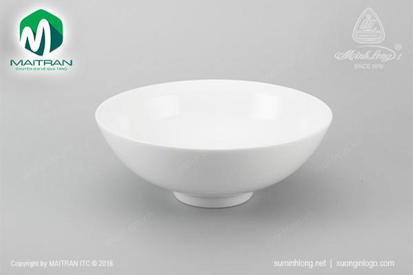 Tô gốm sứ Minh Long Tô trung 15 cm Daisy trắng
