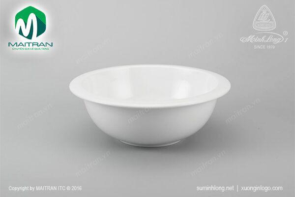 Tô gốm sứ Minh Long Tô vành 22 cm jasmine trắng