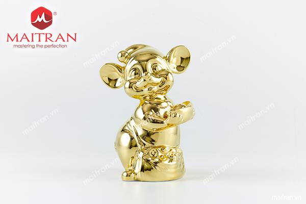Tượng Chuột Quý 16 cm Dát vàng